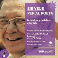 #músicaenvalencià @6veusperalpoeta @barnasants 03/02/17 @tradicionarius