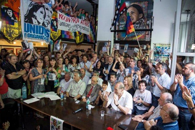Presekonferenz in der Hauptstadt Argentiniens am Jahrestag der Verhaftung von Milagro Sala