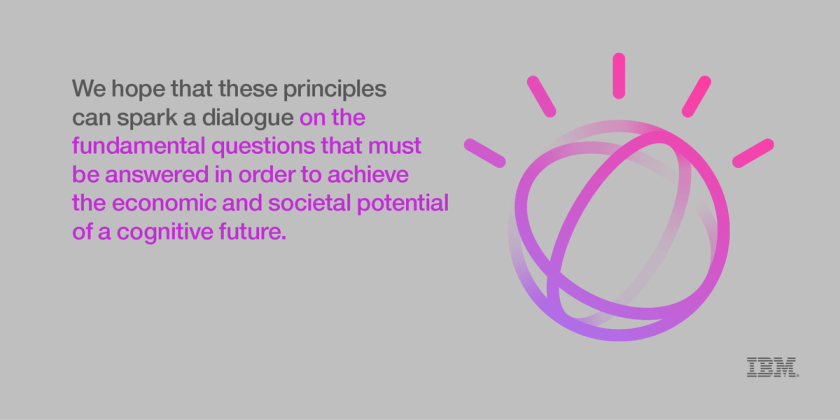 IBM establishes guiding principles for the #CognitiveEra. Read them here:  #AI