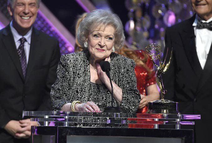 Betty White says the best thing about being 95 is that she's still employed. Happy birthday!