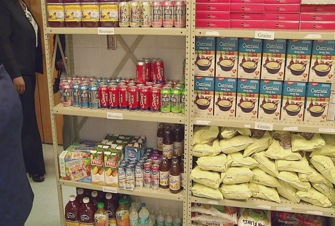 Food pantry opens at Clair Mel Elementary School.