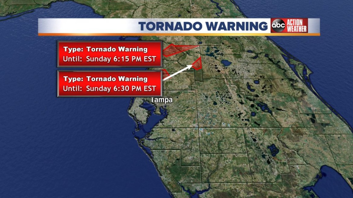 A Tornado Warning has been issued for our area. Stay tuned for the latest weather updates on