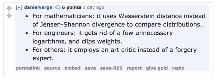 Wasserstein GANs pretty aptly summarized in this reddit comment: