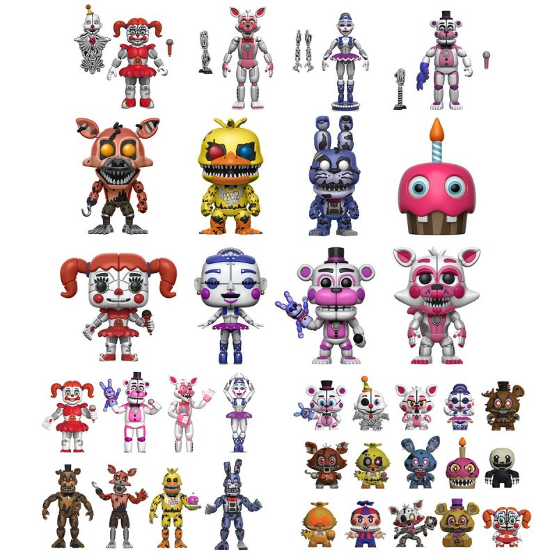 #Five Nights at Freddy's #FNAF #Funko #Pop #Sister Location #Funtime #Mangle #Circus Baby #Foxy #Bonnie #chika #Freddy #Ballora #