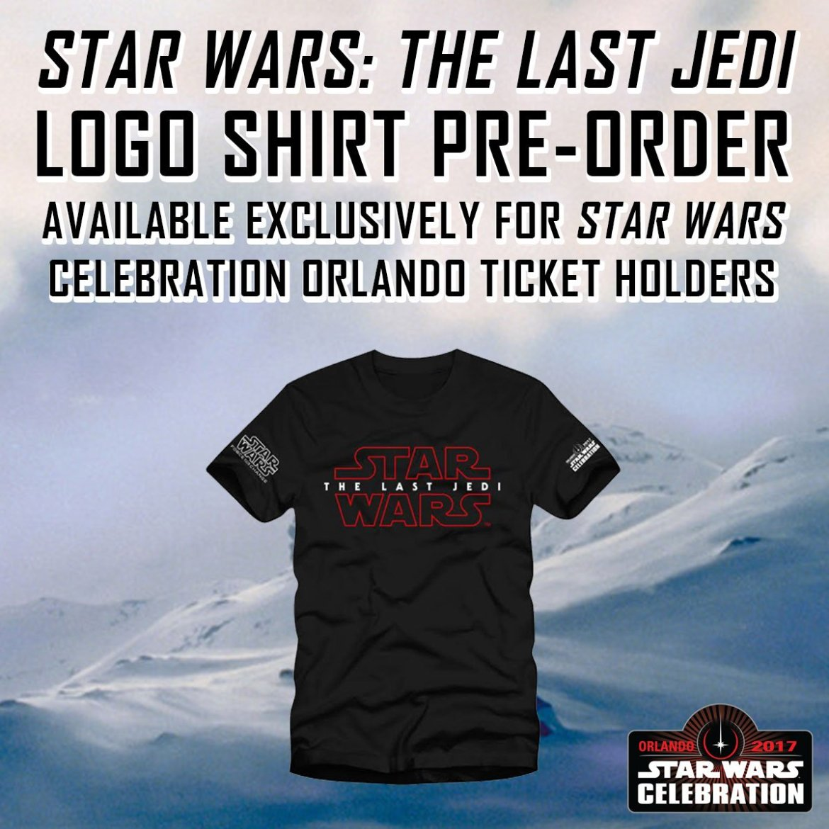 T-shirt officiel Star Wars : Les Derniers Jedi