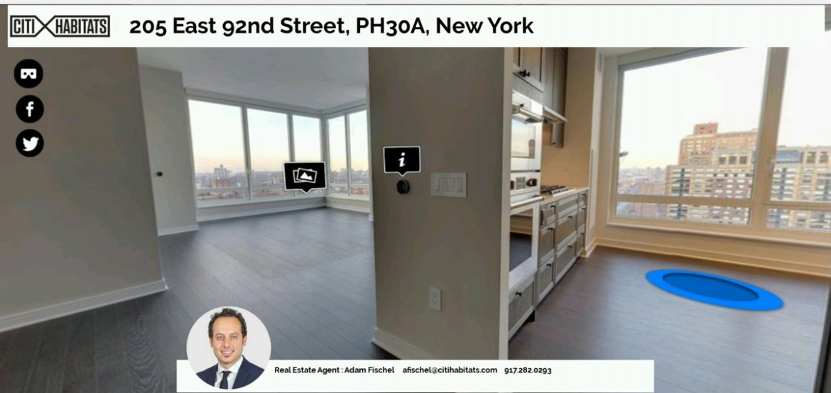 Our 360 #vr platform is perfect for #nyrealestate #RealEstate #nyc #walkthrough book now