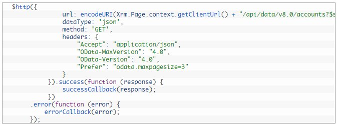 Execute Web API request using Angular JS in Dynamics CRM  #MSDyn365