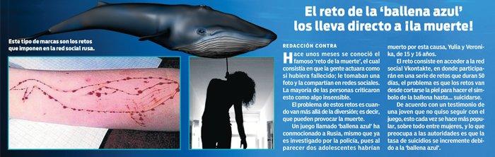 Resultado de imagen para juego ballena azul
