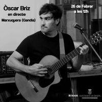 """@aj_gandia [#PlaDinamitzacióMarxuquera] #ÓscarBriz (Cicle """"Música al terrat"""" @musicaNvalencia @musicadelpv)"""