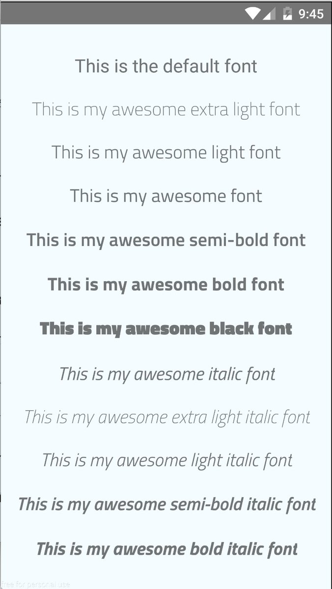 Add a custom font to your React Native app  by @Guitoof