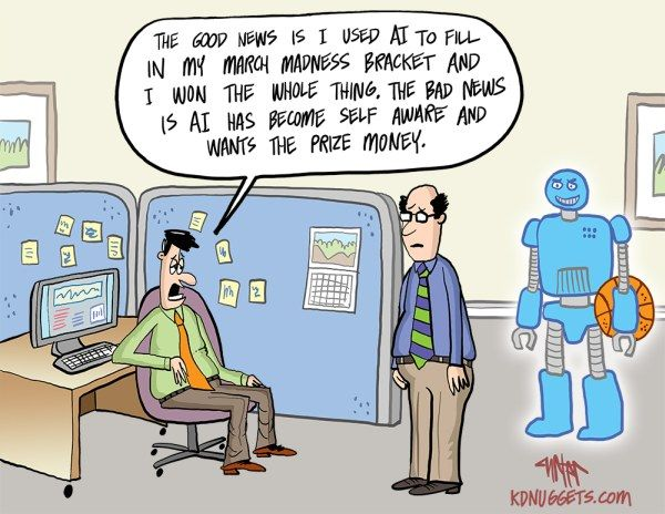 #Cartoon: What happens when #AI masters the #MarchMadness #humor #MachineLearning #Robots