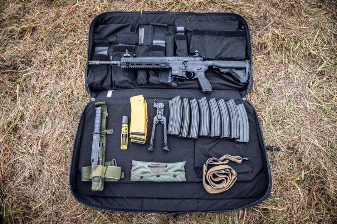 HK416F et ses accessoires (Image Armée de Terre).