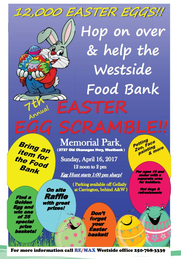 test Twitter Media - Save the date. April 16th is the 7th Annual Easter Egg Scramble. #WestKelowna https://t.co/1wiLlzj8j7