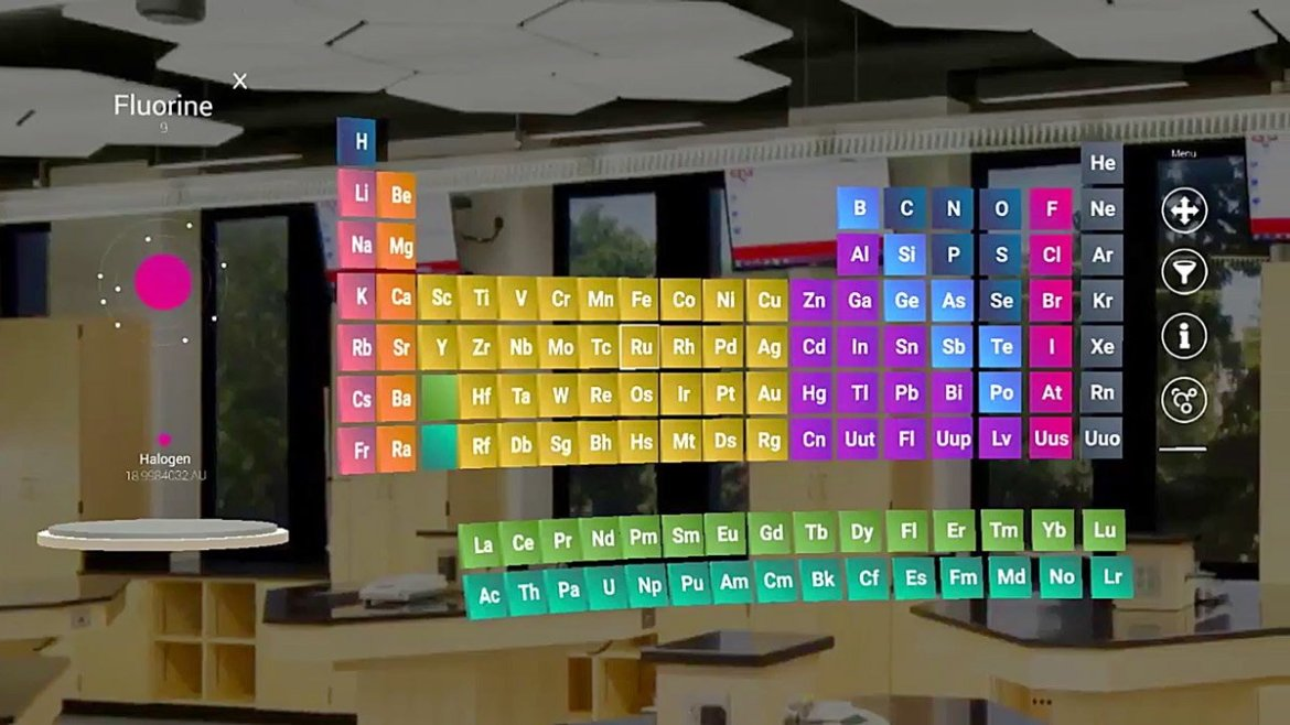 'MyLab' on HoloLens Brings an Interactive Periodic Table to the Chemistry Classroom