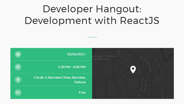 Developers in Kaduna, sign up to explore ReactJS with @CoLab_kd this April