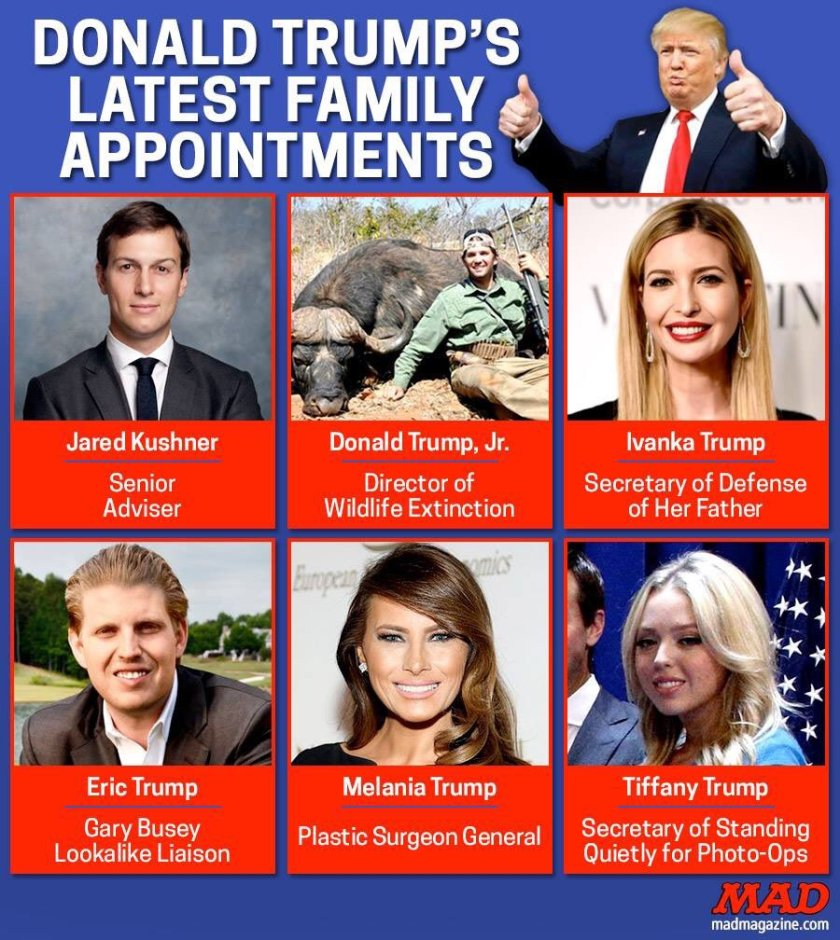 Image result for trump nepotism