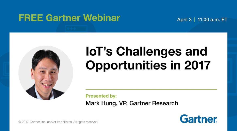 Webinar, 4/3, 11 am ET: #IoT Challenges and Opportunities in 2017  #IT #CIO