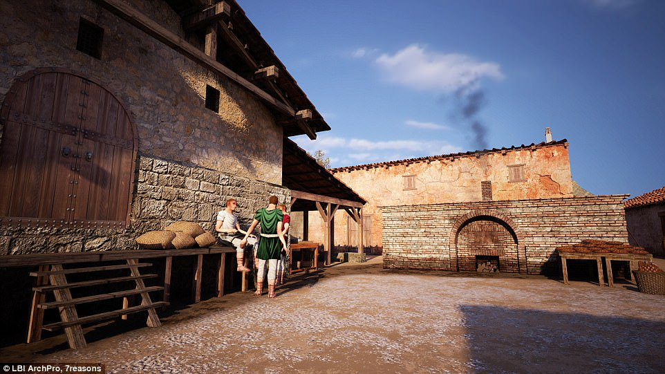 Shops, bars and restaurants are found at a Roman gladiator arena