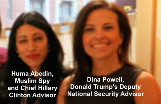 Image result for pics of dina powell and huma abedin