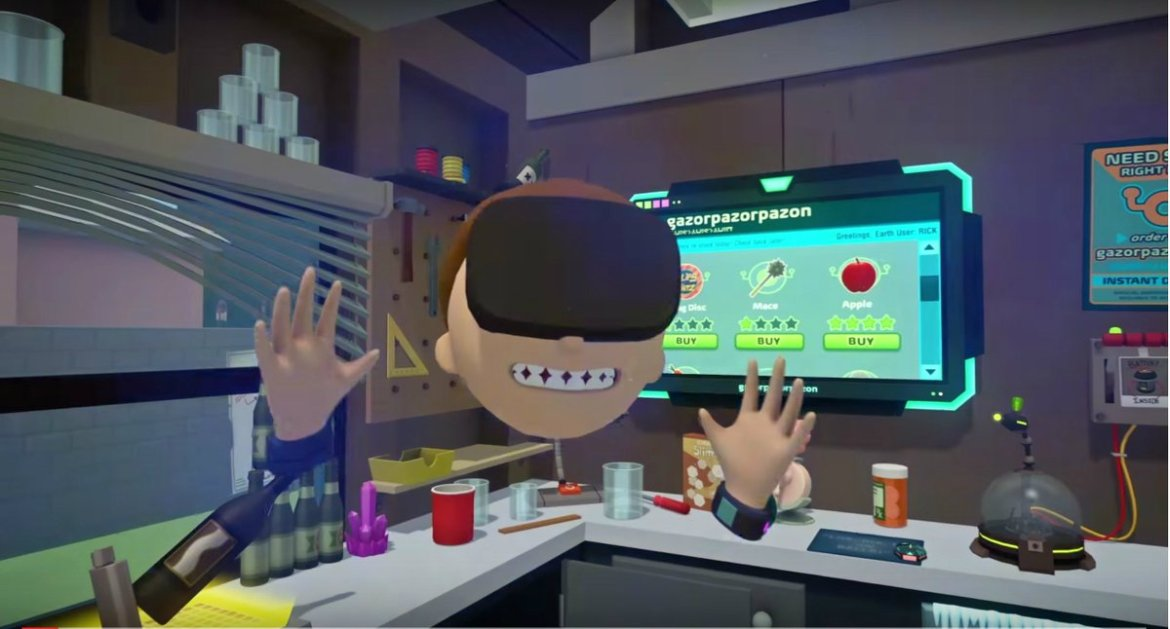 We played the Rick and Morty VR game and it's stupidly fun