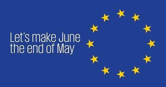 Let's make June the end of May