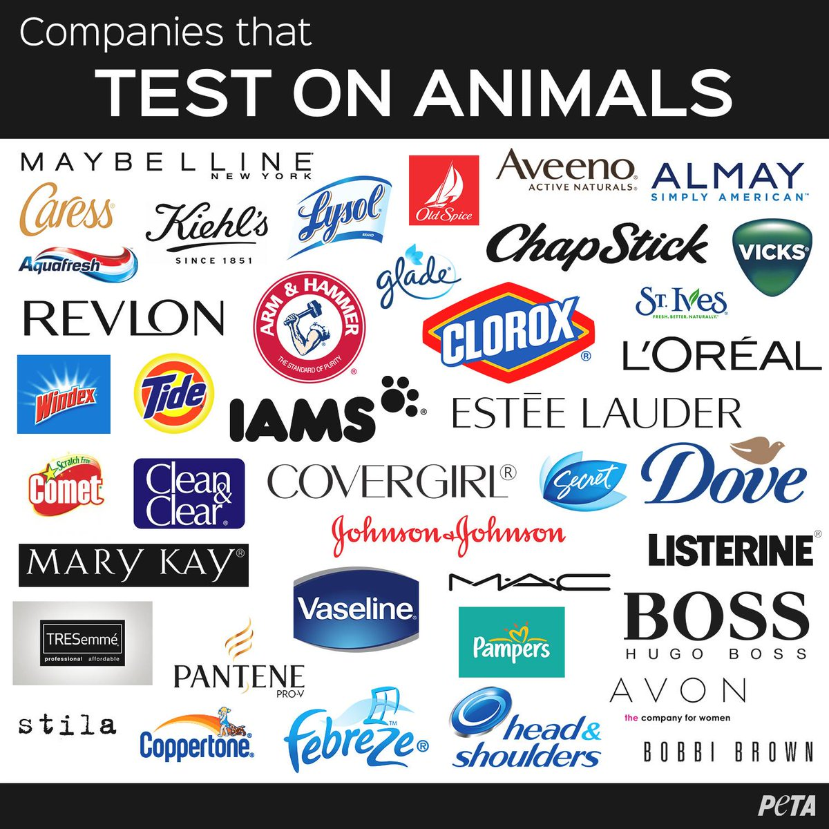 These companies STILL test on animals.