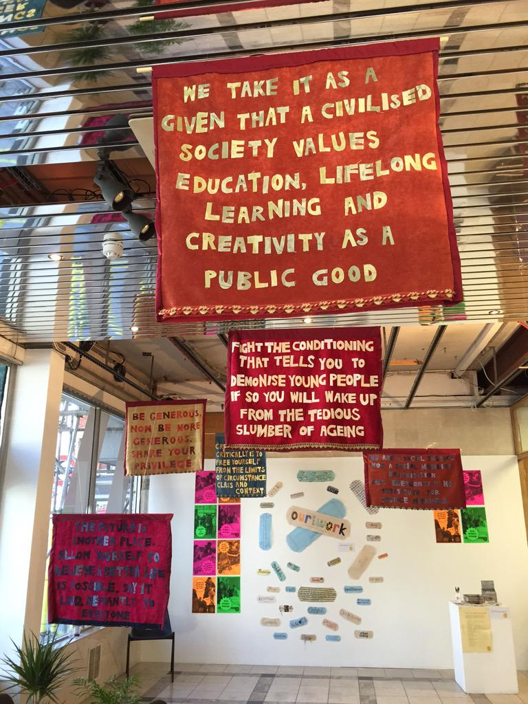 @artsemergency banner manifesto, perfect for the @PHMMcr #textile #power #arts http://t.co/hDQW8QSslk