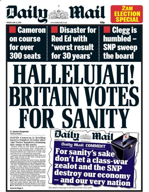 Friday's daily mail (2am edition): hallelujah! britain ...