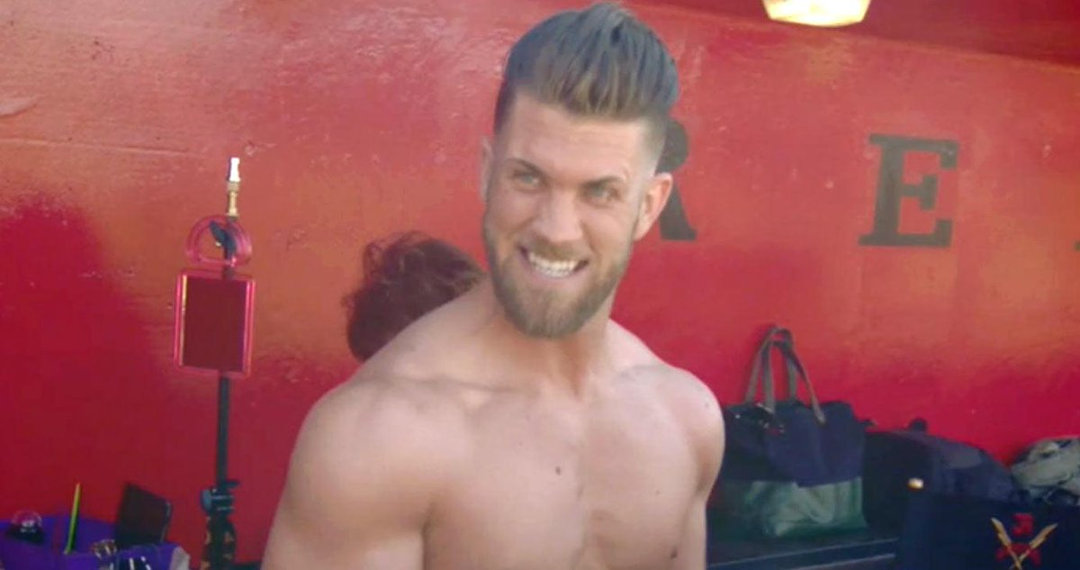 MLB Star Bryce Harper Went Shirtless For ESPN Mag: