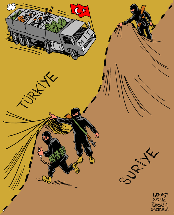 Latuff, spot on as usual. #Turkey #Syria #Rojava #ISIS #TwitterKurds