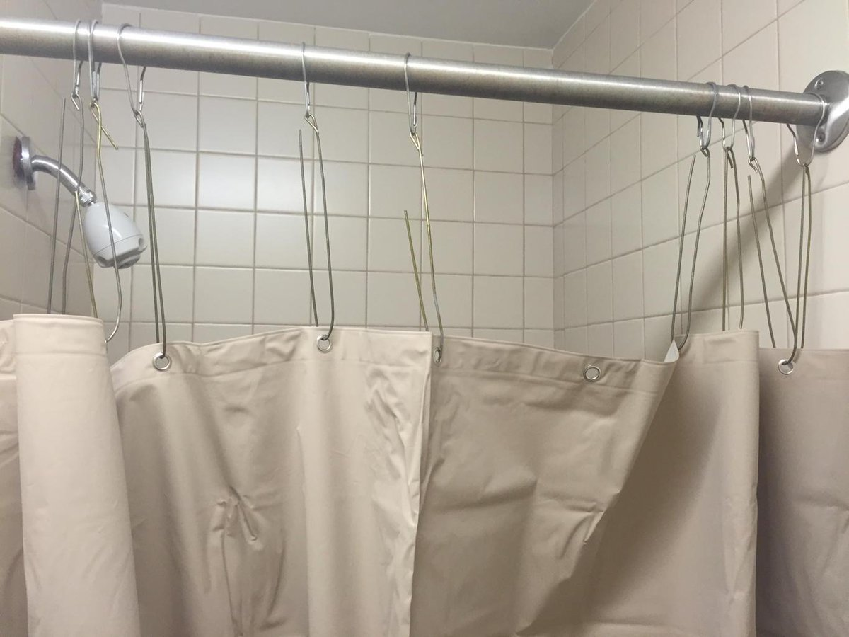 short shower curtain