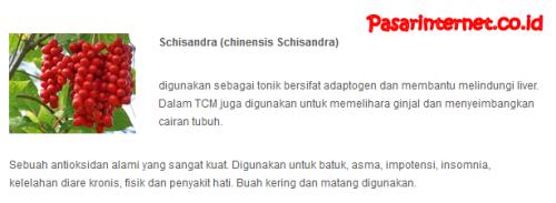 kandungan schisandra(chinesis schisandra)