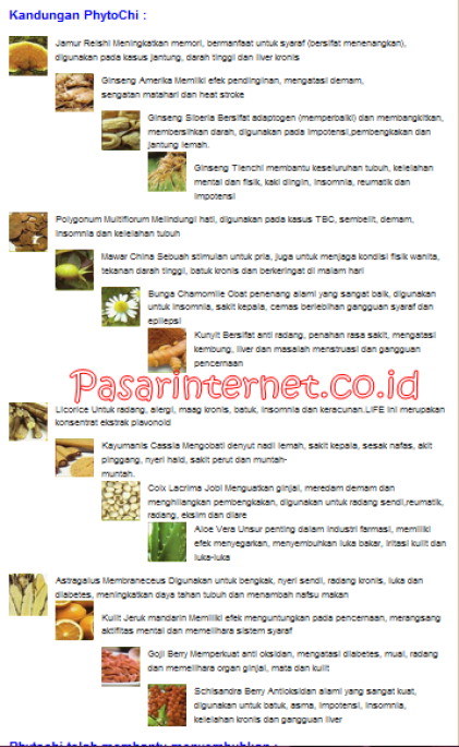 isi kandungan dan manfaatnya dalam herbal alami Phytochi