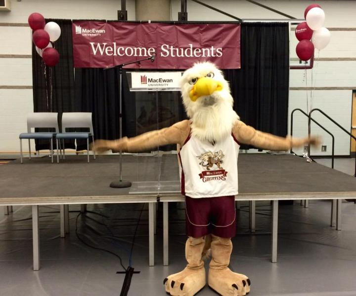 "MacEwan Griffins on Twitter: ""Our very own Griff is poised to take ..."