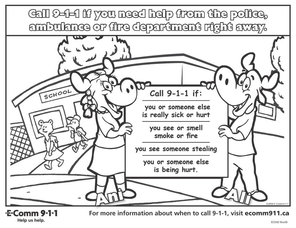 E Comm 9 1 1 On Twitter Download Our 911 Activity Sheet To Help Teach Kids When To Call 911