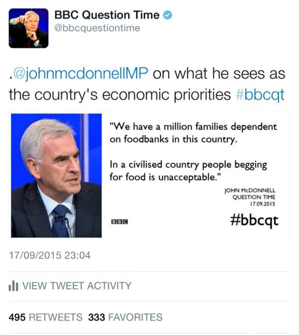 """BBC Question Time on Twitter: """"Our most retweeted comment ..."""