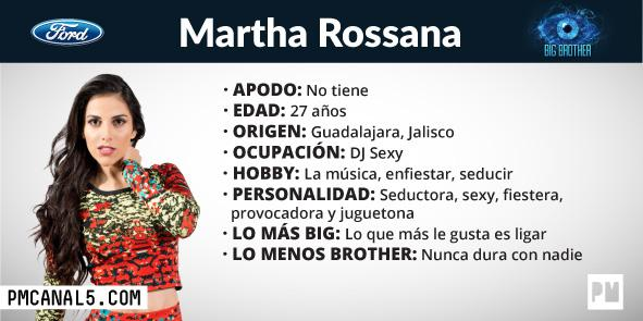 Martha Rossana - Participante Big Brother