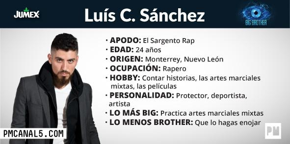 Luís Sánchez -Participante Big Brother