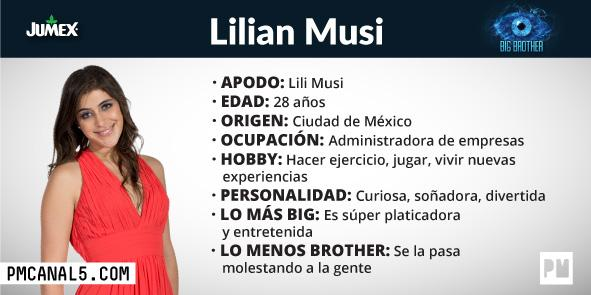 Lilian Musi - Participante Big Brother