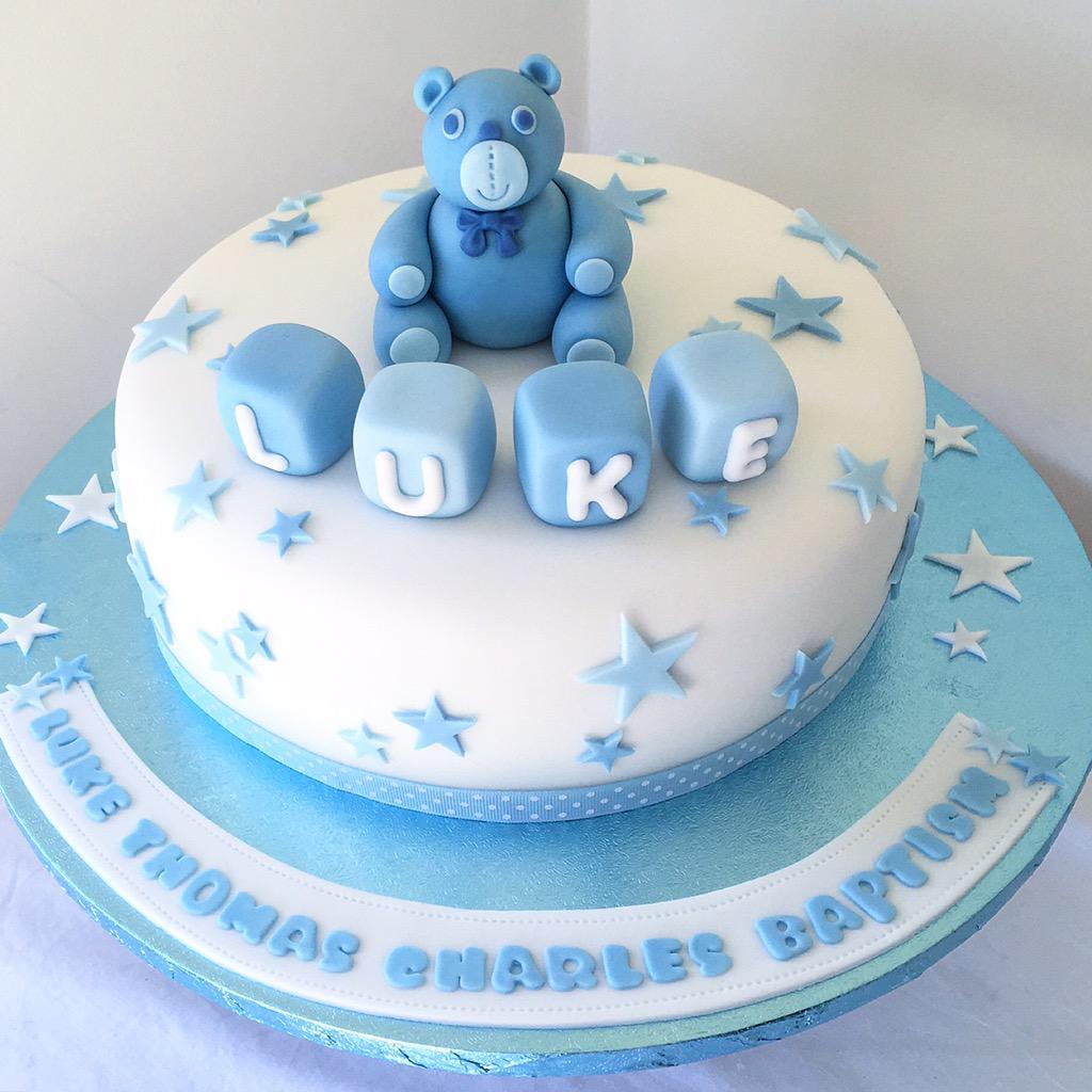 Baby Boy Baptism Cakes