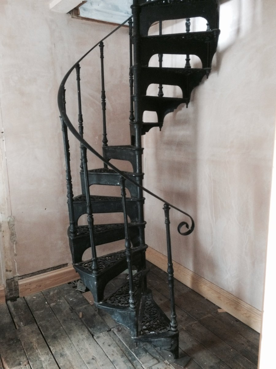Henny On Twitter For Sale Stunning Victorian Spiral Staircase | Spiral Staircase For Sale Ebay | Stair Railing | Stair Case | Wrought Iron Spiral | Handrail | Attic Stairs