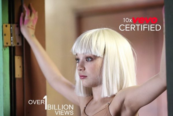 Sia Furler Source On Twitter Chandelier Just Hit 1 Billion Views Vevo Congrats To Her First 10x Certified Music Video