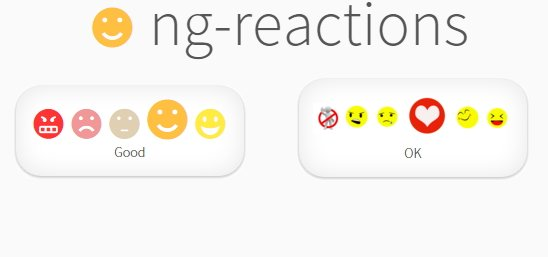 ng-reactions | Angular Module to create a rating widget |  #angularjs