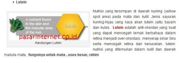 Manfaat Kandungan Lutein dalam S lutena