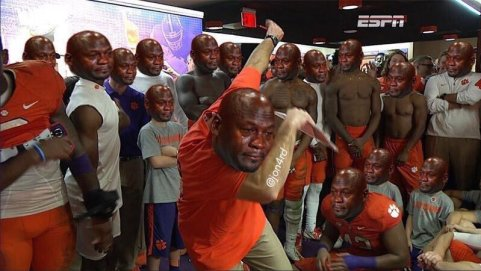 Image result for clemson crying jordan