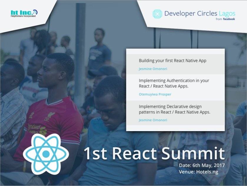 You can RSVP now here ==>   There will be sessions on building your first react native app