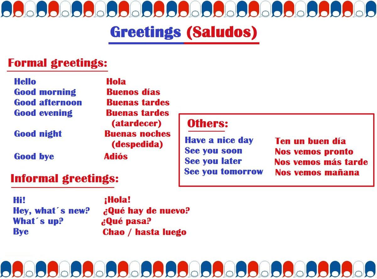 Salutations En Francais Worksheets