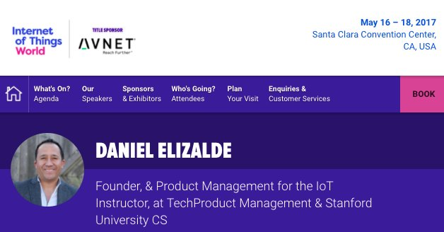 Join me for a talk on IoT Product Strategy at #IoTW17!  #IoT