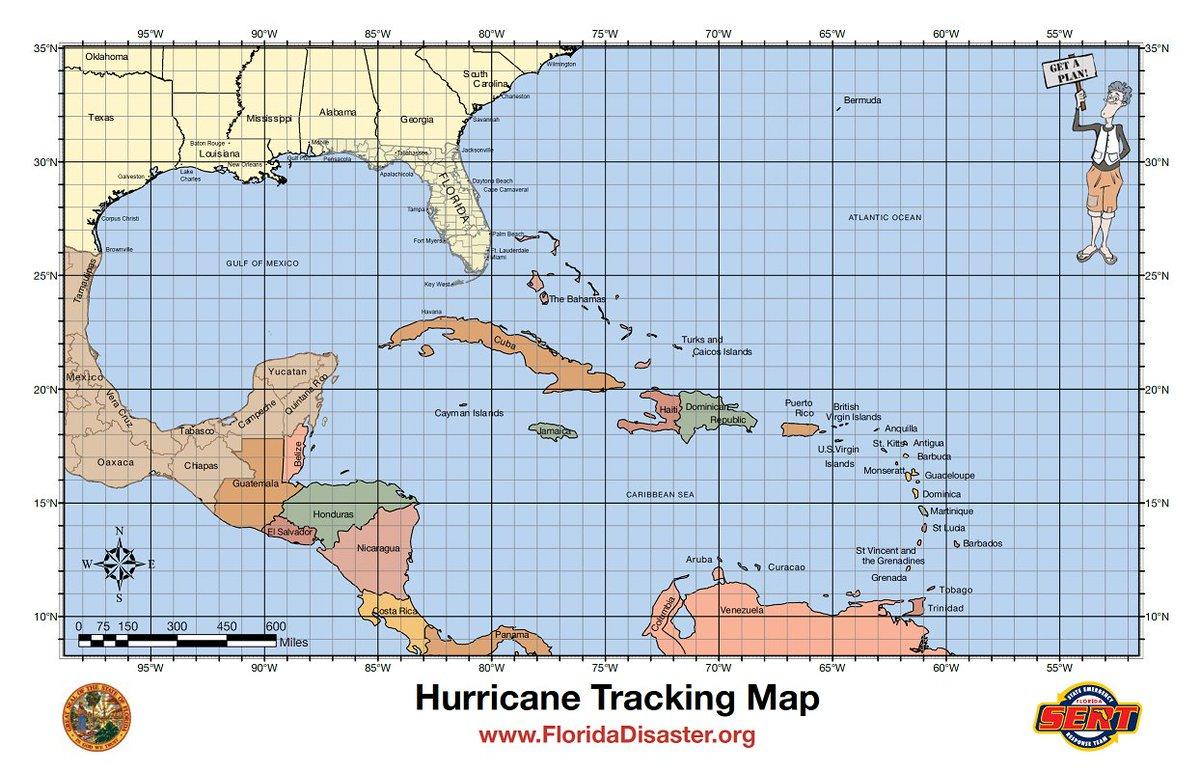 Crazy Hurricane Tracking Map Printable