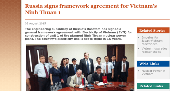 Russia signs framework agreement for Vietnam's Ninh Thuan ...